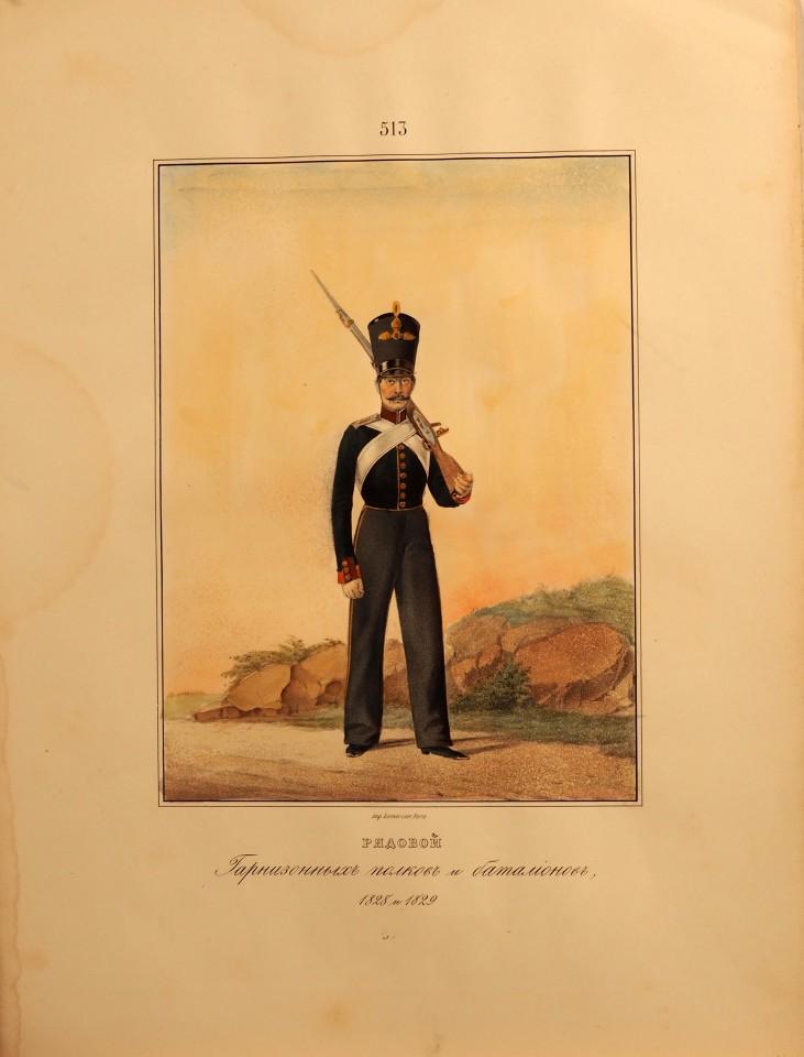 Рядовой гарнизонных полков и батальонов.
