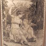 Стакан. Литографическая печать, роспись золотом