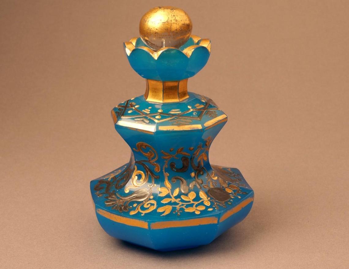 Флакон фигурный с перехватом, «склянка для одеколону»