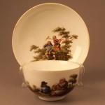 Две чайные пары и одно блюдце. Фабрика Мейсен. Германия, конец XVIII в.