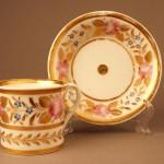 Чайная пара с цветами шиповника