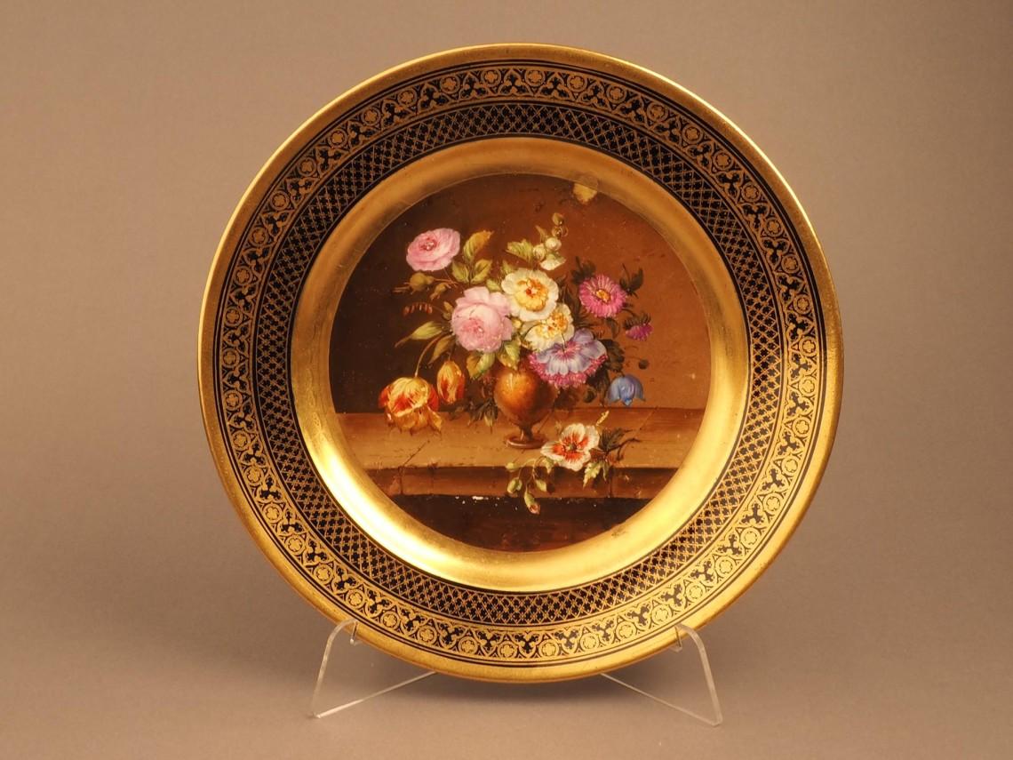Тарелка с изображением натюрморта