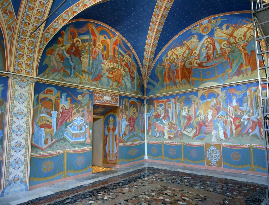 Фрагмент росписи в капелле г. Терни.