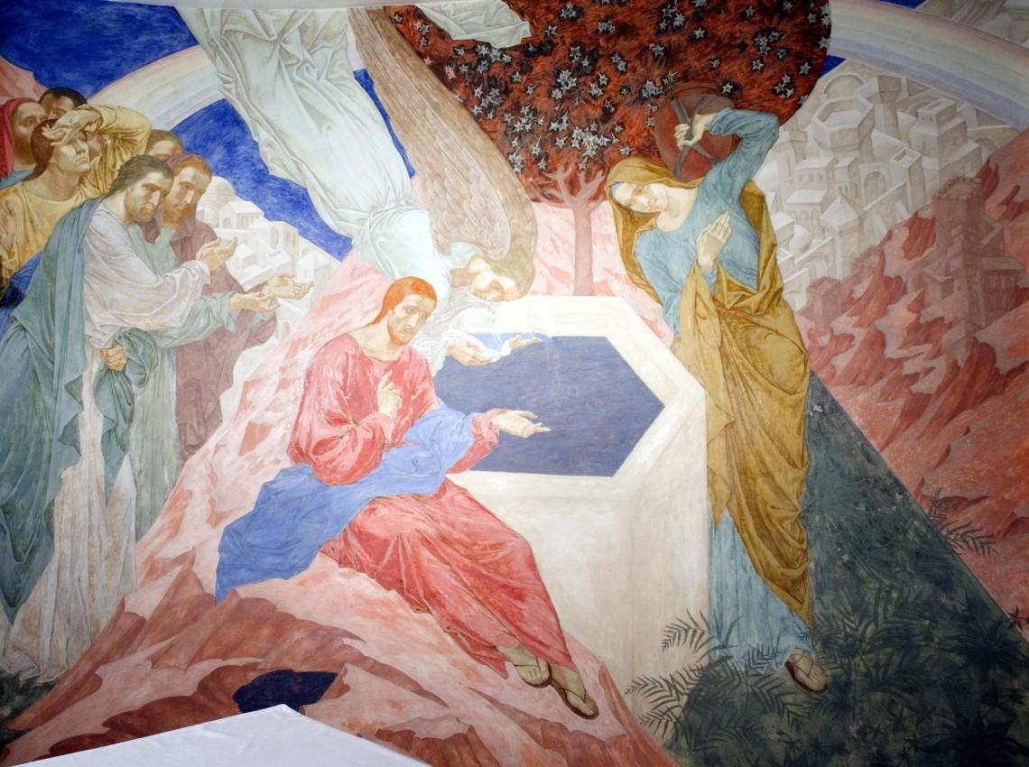 Фрагмент росписи капеллы Santa Lucia. Piana. Корсика.