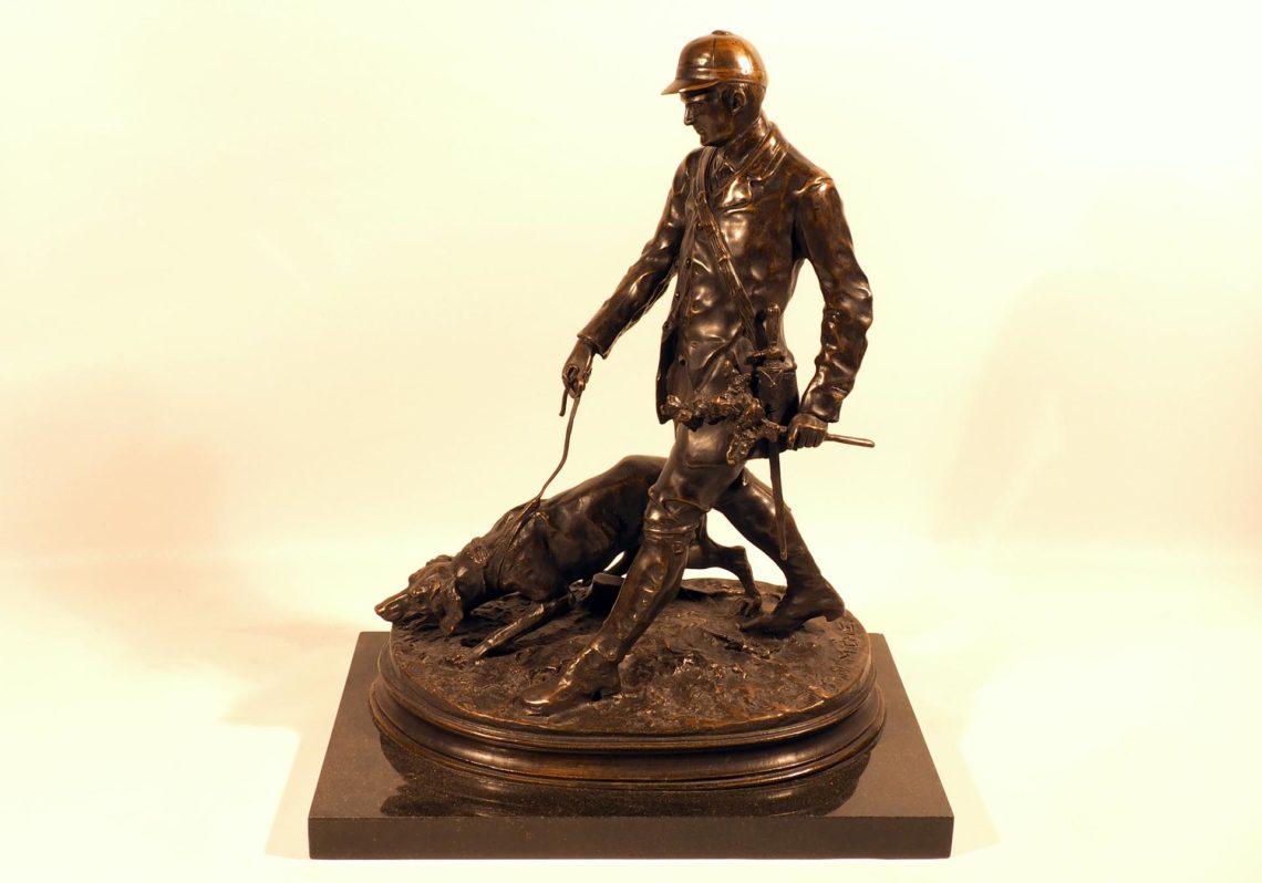 Скульптура «Охотник с собакой»